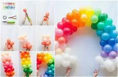 basteln mit luftballons geburtstag bogen bunt deko