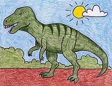 Malvorlagen Dinosaurier T Rex Easy Draw A T Rex 183 Projects For
