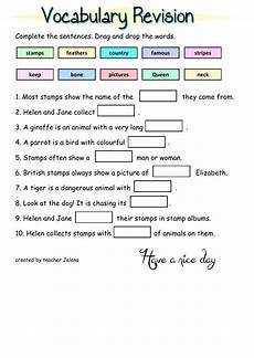 vocabulary revision interactive worksheet