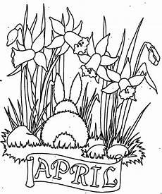November Malvorlagen Gratis April Mit Blumen Ausmalbild Malvorlage Monatsbilder