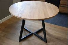 extendable table modern design steel and timber