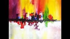 tableau peinture abstraite acrylique peinture abstraite au couteau acrylique facile