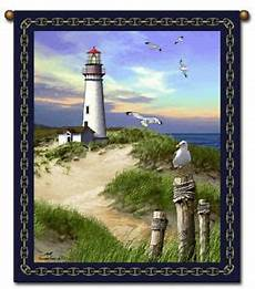 27x36 lighthouse ocean tapestry wall hanging