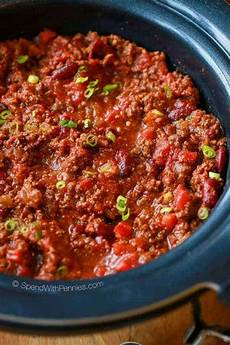 easy crock pot chili recipe spend with pennies