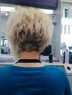 buzzed number 5 in back wedge line then layered into an a line bob cute funky hair hairstyles