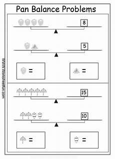 pan balance equations worksheets algebra worksheets algebraic reasoning balance problems 2 variables 2 unknowns 15