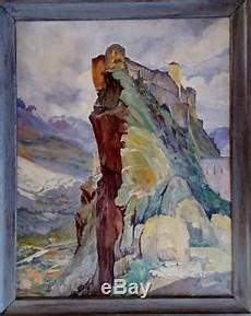 Tr 233 S Grand Tableau Ancien Paysage De Corse Le Nid D Aigle