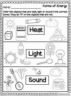 forms of energy heat light sound teacher 1st grade science second grade science