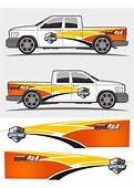 Truck And Vehicle Decal Graphics Kits Design Stock Vector
