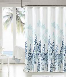 Blue Flower Shower Curtain mirage teal blue white floral flowers fabric bathroom