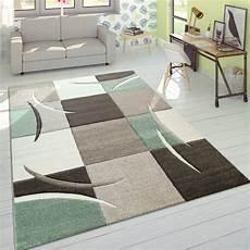 teppiche modern designer teppich karo pastellt 246 ne gr 252 n teppich de