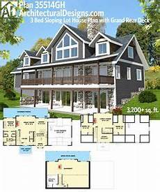 sloped lot house plans walkout basement 100 awesome homes for the sloping lot images in 2019