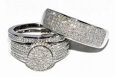 best seller wedding ring sets for him and white gold