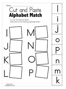alphabet match i to p free worksheets preschool