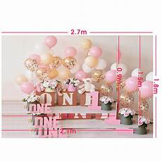 5x3ft 7x5ft 9x6ft Birthday Pink Balloon by Backdrops 5x3ft 7x5ft 9x6ft 1st Birthday Pink Balloon
