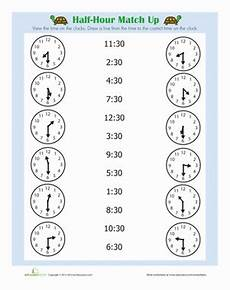 printable time worksheets for 1st grade 3732 half hour worksheet education