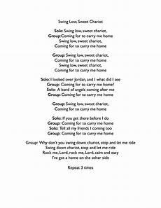 swing low sweet chariot lyrics gospeltutorial