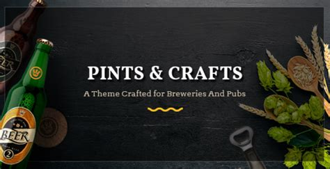 pintscrafts v1 0 a theme crafted for breweries pubs and bars