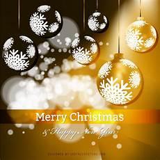 merry and happy new year orange background