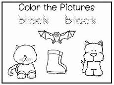 5 all about the color black no prep tracing preschool