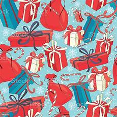 funny merry christmas seamless pattern with gift boxes and candy stock illustration download