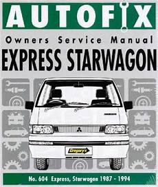 free online auto service manuals 1994 mitsubishi chariot mitsubishi express starwagon 1987 1994 autofix service repair manual workshop car manuals