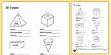 free properties of 3d shapes worksheet maths resource twinkl
