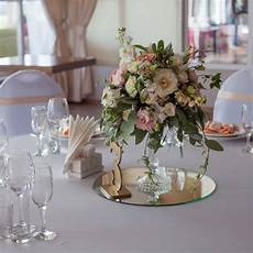 table decor ideas using mirror centerpieces for events