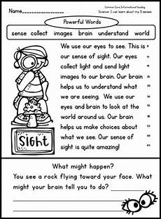 the five senses worksheets for grade 1 12573 teaching the 5 senses let them eat worms reading comprehension worksheets fluency passages