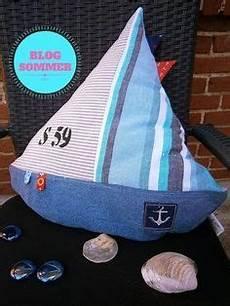 diy anleitung maritime diy segelboot kissen anleitung zum selbst n 228 hen ideas