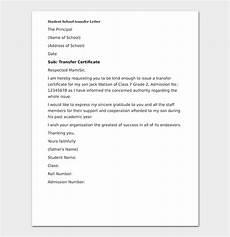elementary school transfer request letter format sles tips