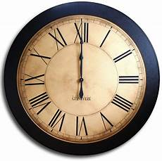 large wall clock 24in antique style big clocks whiting