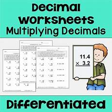 multiplying decimals differentiated worksheets by cantonwine