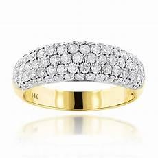 pave diamond rings 14k gold diamond wedding