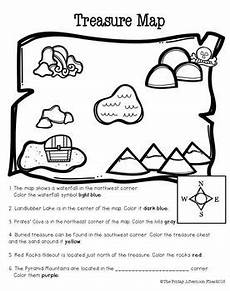 worksheets on directions for grade 4 11747 pirate mini unit teaching maps teaching social studies map skills