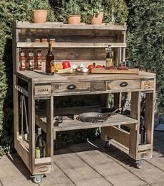 küche selber bauen aus europaletten grilltisch aus paletten grill tisch aus europaletten