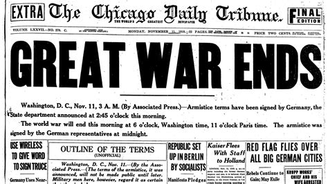 End Of The Great War