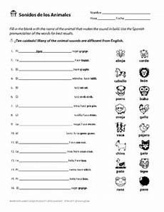 spanish alphabet pronunciation with animal sounds worksheet tpt