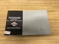 how to download repair manuals 1992 nissan nx spare parts catalogs 1992 nissan sentra nx 1600 nx2000 owners manual ebay