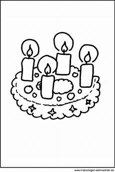 Malvorlagen Weihnachten Adventskranz Malvorlage Adventskranz Als Ausmalbild Ausmalbilder