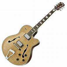 jazz guitars subzero new orleans semi acoustic jazz guitar at gear4music