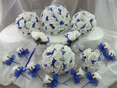 royal blue and white wedding bouquet flowers package ebay