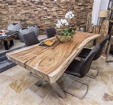 Holz Deko Modern - baumstammtisch massivholz suar rustikaler esstisch