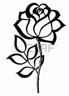 stock vector rose stencil rose outline black silhouette