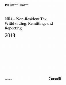 fillable online nr4 non resident tax withholding