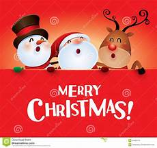 merry christmas happy christmas companions with big sign stock vector illustration of nose