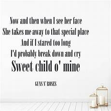 guns n roses wall sticker sweet child o mine wall decal