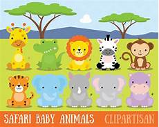 Baby Jungle Animal Clipart