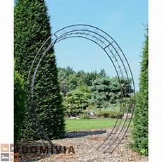 Rosenbogen Oval Metall Schwarz 200 215 220 Cm Garten