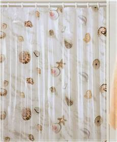 seashell shower curtain seas shells seashell nautical shower curtain vinyl ebay